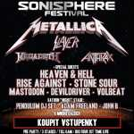 Sonisphere, metal, haevy, rock, death, Metallica, Slayer, Mastodon, Megadeth, Slayer, Anthrax, Heaven & Hell, Rise Against, Stone Sour, DevilDriver, Volbeat, Pendulum DJ's, Adam Freeland, John B