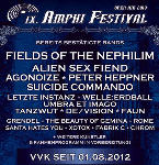Amphi Festival, Fields Of The Nephilim, Alien Sex Fiend, Agonoize, Peter Heppner, Suicide Commando, Letzte Instanz, Welle: Erdball, Umbra Et Imago, Tanzwut, De/Vision, Faun, Grendel, The Beauty Of Gemina, Rome, Santa Hates You, Xotox, Fabrik C, Chrom