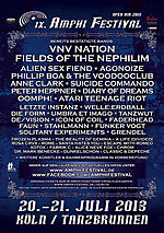 Amphi Festival 2013, Amphi Festival, Atari Teenage Riot, Phillip Boa & The Voodooclub, Anne Clark, A Life [Divided], dark independent