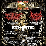 Metal Scrap 20 Years Anniversary Tour, trasa koncertowa, koncerty, D:Hate, Cryogenic Implosion, Regicide Decease, Sadistic Games