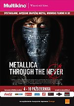 Metallica, Metallica: Through the Never, Multikino