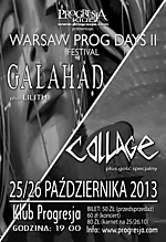 Warsaw Prog Days II, Warsaw Prog Days, Galahad, Collage, Lilith, Soma White, rock progresywny, rock