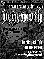 Behemoth, Obscure Sphinx, Thaw, black metal, noise, Eter, Wrocław, Adam Darski, Nergal, post metal
