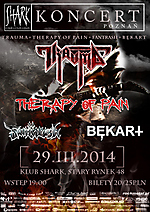 Trauma, Therapy Of Pain, Bękart, Fanthrash, death metal, metal