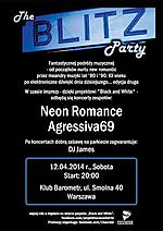 The Blitz Party, Agressiva 69, Neon Romance, industrial, electropop, electro, rock