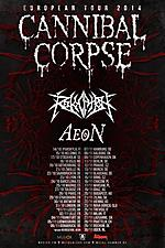 Cannibal Corpse, death metal, metal, Koncerty, Revocation, Aeon