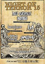 Night Of Terror, Night Of Terror 15, Det Gamle Besatt, Heretique, Lęk, Snake's Head, Porno Thrash, metal, black metal, death metal, thrash metal