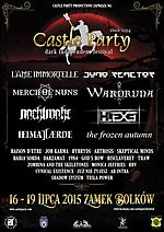 Castle Party 2015, Castle Party, Juno Reactor, L'ame Immortelle, Wardruna, Nachtmahr, Merciful Nuns, The Frozen Autumn, Heimataerde, H.Exe, Artrosis, Rabia Sorda, Raison D'etre, Job Karma, Hybryds, Zombina And The Skeletones, God's Bow, Skeptical Minds, D