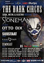 The Dark Circus Festival, Stoneman, Otto Dix, Substaat, Kissin' Black, Demoncast, gothic metal, darkwave, synth electro, dark rock, industrial rock