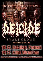 Deicide, Sawthis, Svart Crown, In the Minds of Evil, death metal, metal, black metal
