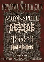Metalowa Wigilia, Progresja, Warszawa, koncert, MOONSPELL, DEICIDE, MORGOTH, HAIL OF BULLETS, SVART CROWN, SAWTHIS
