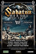 Sabaton, metal, power metal, heavy metal, Heroes, Delain, Battle Beast, Frontside