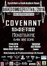 Dark Sounds Festival 2016, Dark Sounds Festival, Covenant, Electro Spectre, Mondträume, Dark Side Eons, electro, EBM, industrial, synth pop, future pop, dark noir