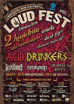 Loudfest Chodzież 2016, Acid Drinkers, rock'n'roll, The Sixpounder, groove metal, heavy metal, In Hell's Duty, hard rock, Stonnard