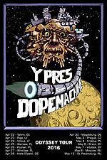 Ypres, Dopemachine, sludge metal, post metal, Odyssey Tour 2016
