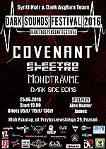 Dark Sounds Festival 2016, Dark Sounds Festival, Covenant, Electro Spectre, Mondträume, Dark Side Eons, synth pop, future pop, ebm, dark noir, electro, industrial
