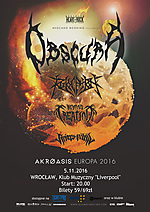 Obscura, technical death metal, progressive metal, death metal, heavy metal, Revocation, Beyond Creation, Rivers Of Nihil