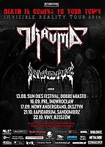 Invisible Reality Tour 2016, Trauma, Invisible Reality, Insidius, death metal