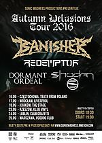 Autumn Delusions Tour 2016, Banisher, Redemptor, Dormant Ordeal, Shodan, metal, death metal