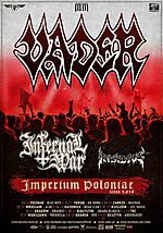 Vader, Infernal War, Insidus, Massive Music, P.W. Events, Imperium Poloniae
