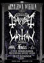 Metalowa Wigilia, Mayhem, Watain, Furia, black metal, death metal