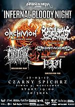 Infernal Bloody Night,  death metal, grind, sludge, doom metal, industrial, Orchivion, Zachlapany Szczypior, Kontagion, Cicatrix, Parh