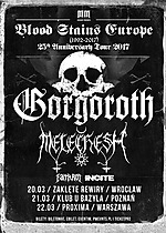 Gorgoroth, Melechesh, black metal. death metal, Incite, Earth Rot, Blood Stains Europe 1992-2017 Tour