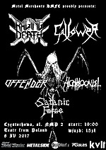 Raging Death, Gallower, Offender, Alcoholocaust, Satanic Force, black metal, death metal