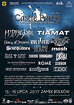 Castle Party, Castle Party 2017, Tiamat, My Dying Bride, Diary Of Dreams, Arkona, Vive La Fete, Diorama, Suicide Commando