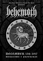 Behemoth, Merry Christless, The Satanist, black metal, Me And That Man, Nergal