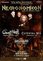 Necronomicon, thrash metal, Waverly Lies North, power metal, Caterina Nix, Mosh Machine