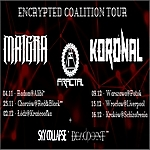Encrypted Coalition Tour, trasa koncertowa, Maigra, Koronal, Fractal, Sky Collapse, Deadpoint, koncerty, metal