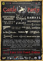 Castle Party, Castle Party 2018, Project Pitchfork, Faun, The Eden House, Theatre of Hate, Made In Poland, Beauty of Gemina, Agonoize, Tyske Ludder
