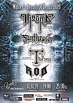 Winter's Breath Of Death 2019, Trauma, Fanthrash, Tenebris, R.O.D, death metal