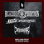 Helliad Fest 2019, Helliad Fest, Blaze of Perdition, Thy Disease, Desolator