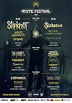 Mystic Festival, Slipknot, Sabaton, In Flames, King Diamond, Batushka, Immolation, Within Temptation, Testament, Amon Amarth, Trivium, Hatebreed, Carcass, Emperor, Crowbar, Entropia, In Twilight's Embrace, Soulfly, Jinjer, Eluveitie, Possessed, Power Trip