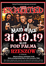 The Exploited, Maid Of Ace, Galicja Productions, punk, punk rock