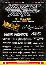 Masters Of Rock, Judas Priest, Nightwish, Amon Amarth, Anthrax, Sepultura, Heaven Shall Burn, Testament, Beast In Black, Alestorm, Oomph!, Amorphis, Kataklysm, Orden Ogan, Septic Flesh, Civil War, Pink Cream 69, Pragockoncert