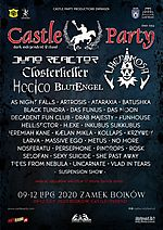 Castle Party Festival, Castle Party Festival 2020, Castle Party, Drab Majesty, Tides From Nebula, Selofan, Ataraxia, H.Exe, Funhouse