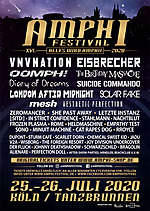 Amphi Festival 2020, Amphi Festival, VNV Nation, Zeromancer, The Birthday Massacre, Suicide Commando, Oomph!, London After Midnight, Diary Of Dreams