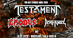 Testament, Exodus, Death Angel, Knock Out Productions, Hala Orbita Wrocław, thrash metal